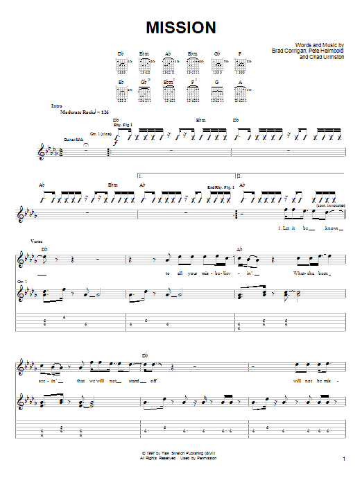 Dispatch Mission sheet music notes and chords. Download Printable PDF.