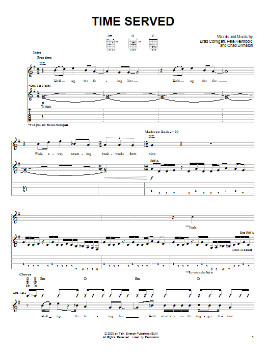Dispatch Time Served sheet music notes and chords. Download Printable PDF.