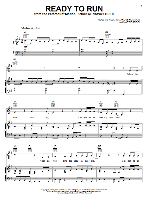Dixie Chicks Ready To Run sheet music notes and chords