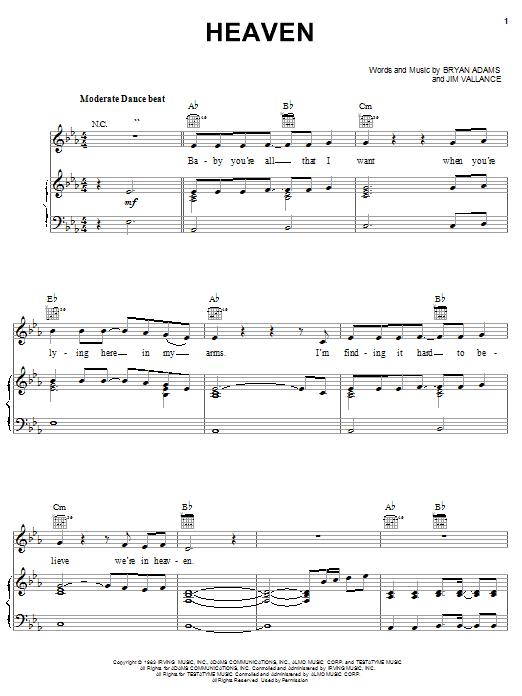 DJ Sammy Heaven sheet music notes and chords. Download Printable PDF.