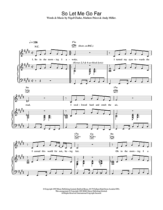 Dodgy So Let Me Go Far sheet music notes and chords