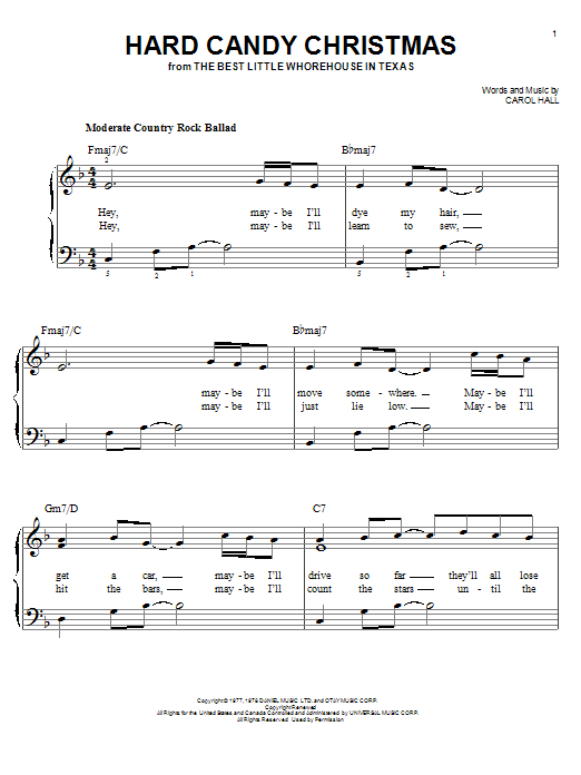 Dolly Parton Hard Candy Christmas sheet music notes and chords. Download Printable PDF.