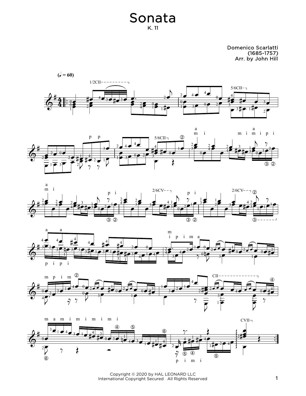 Domenico Scarlatti Sonata, L. 352 sheet music notes and chords. Download Printable PDF.