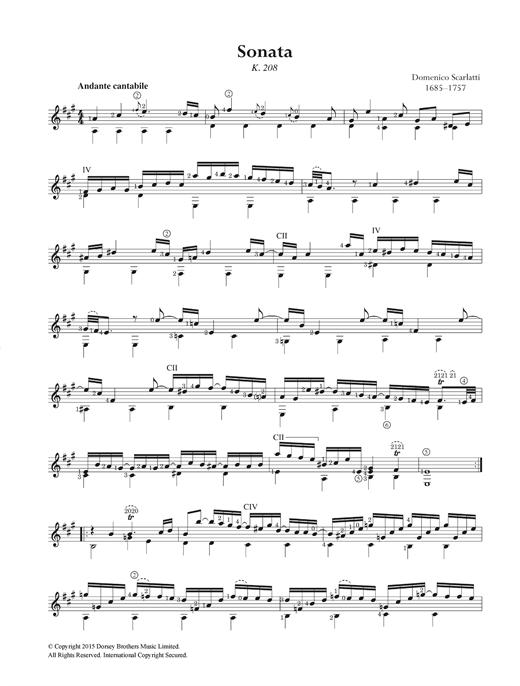 Domenico Scarlatti Sonata K.208 sheet music notes and chords. Download Printable PDF.