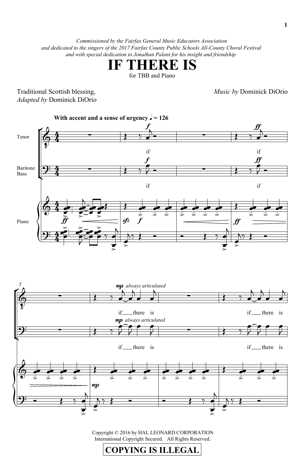 Dominick Diorio If There Is sheet music notes and chords