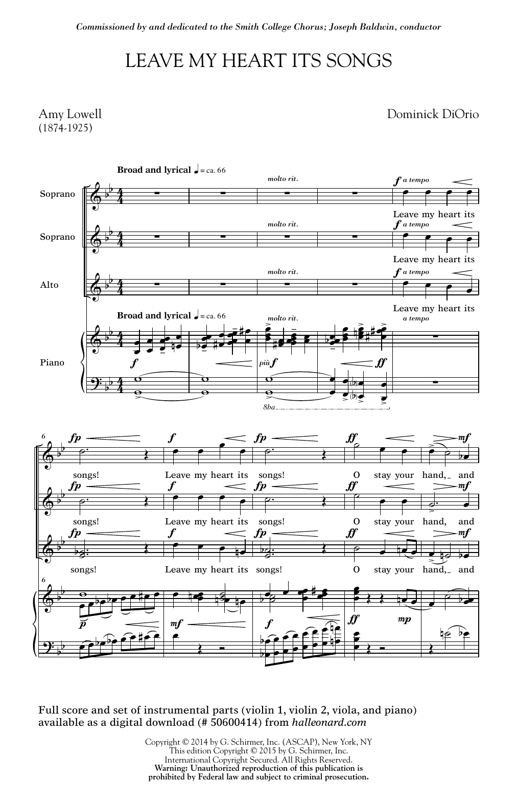 Dominick DiOrio Leave My Heart Its Songs sheet music notes and chords. Download Printable PDF.