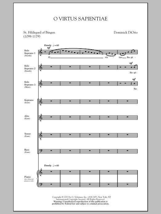 Dominick Diorio O Virtus Sapientiae sheet music notes and chords. Download Printable PDF.