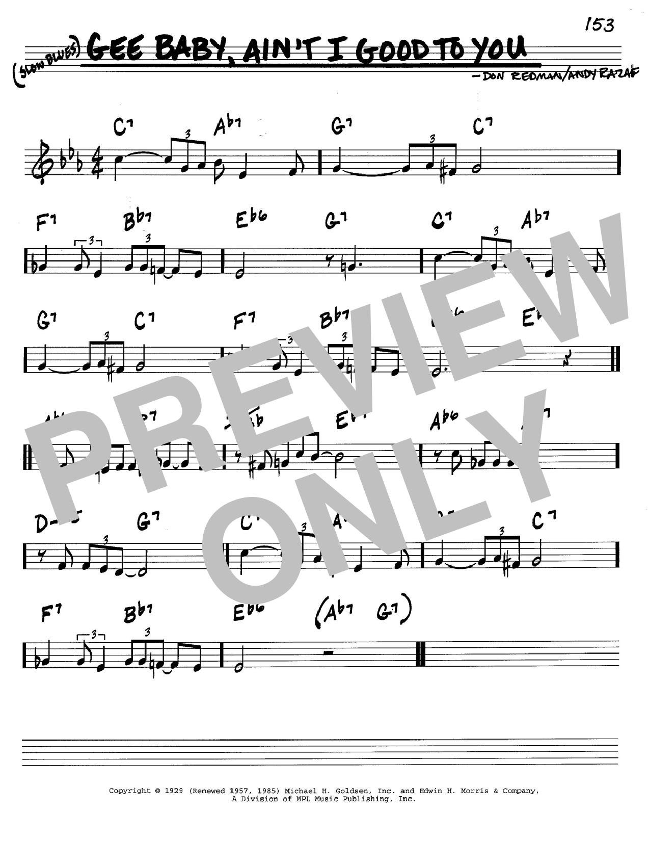 Don Redman Gee Baby, Ain't I Good To You sheet music notes and chords. Download Printable PDF.