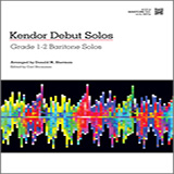Download Donald M. Sherman 'Kendor Debut Solos - Baritone T.C.' Printable PDF 14-page score for Instructional / arranged Brass Solo SKU: 124989.