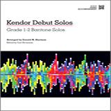 Download Donald M. Sherman 'Kendor Debut Solos - Baritone T.C. & B.C. - Piano Accompaniment' Printable PDF 42-page score for Instructional / arranged Brass Solo SKU: 125002.
