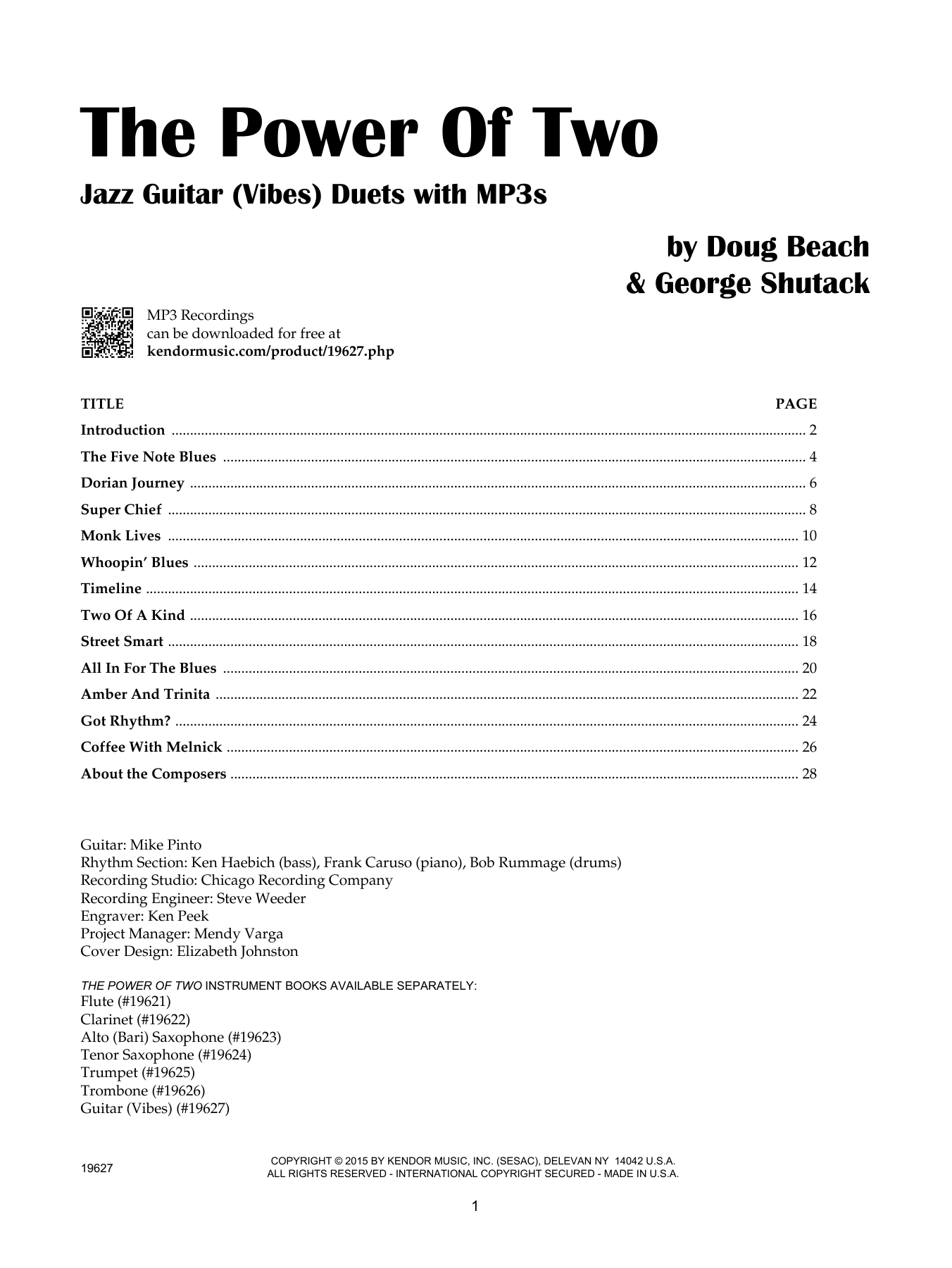 Doug Beach The Power Of Two - Guitar (Vibes) sheet music notes and chords