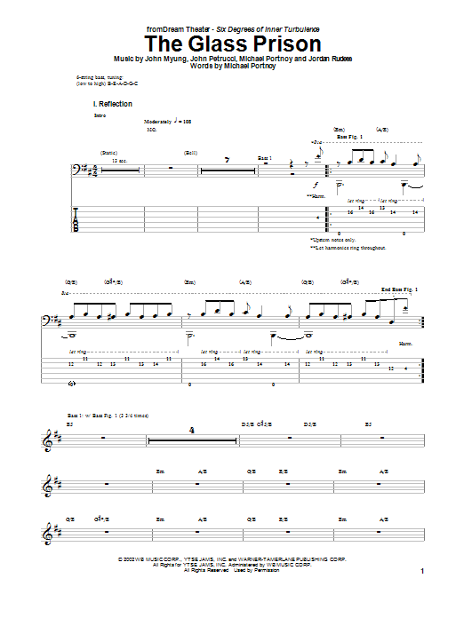 Dream Theater The Glass Prison sheet music notes and chords. Download Printable PDF.