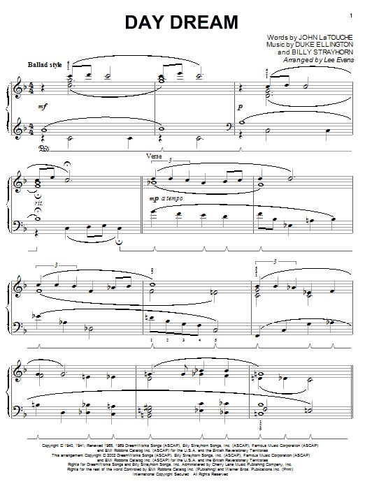 Duke Ellington Day Dream sheet music notes and chords. Download Printable PDF.