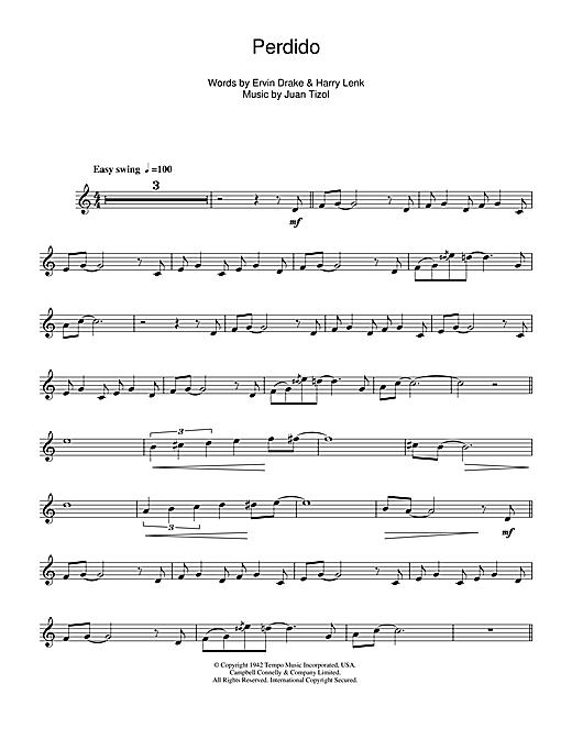 Duke Ellington Perdido sheet music notes and chords. Download Printable PDF.