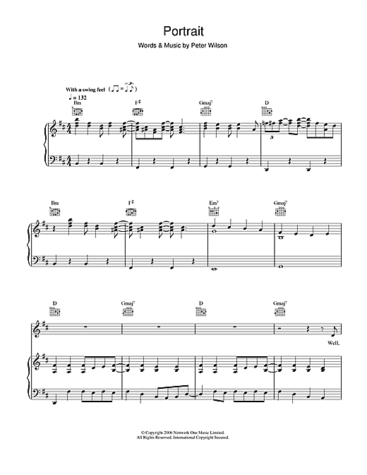 Duke Special Portrait sheet music notes and chords. Download Printable PDF.