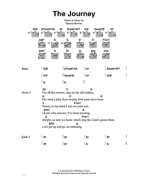 Duncan Browne The Journey sheet music notes and chords