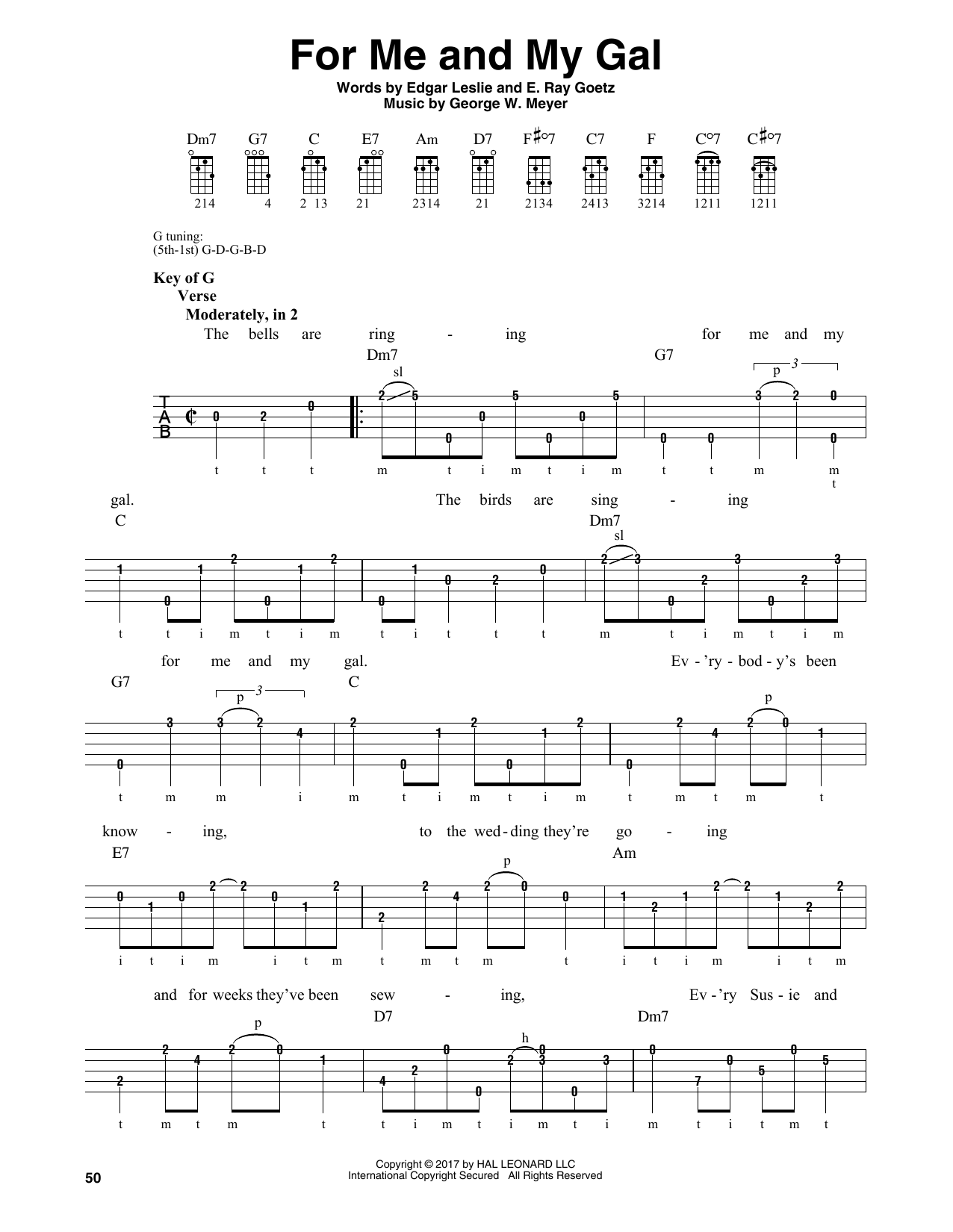 E. Ray Goetz For Me And My Gal sheet music notes and chords. Download Printable PDF.