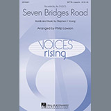 Download Eagles 'Seven Bridges Road (arr. Philip Lawson)' Printable PDF 6-page score for Pop / arranged SATB Choir SKU: 67661.