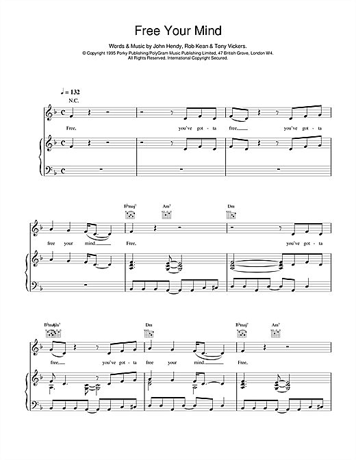 East 17 Free Your Mind sheet music notes and chords