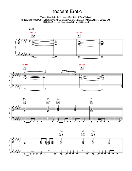 East 17 Innocent Erotic sheet music notes and chords. Download Printable PDF.
