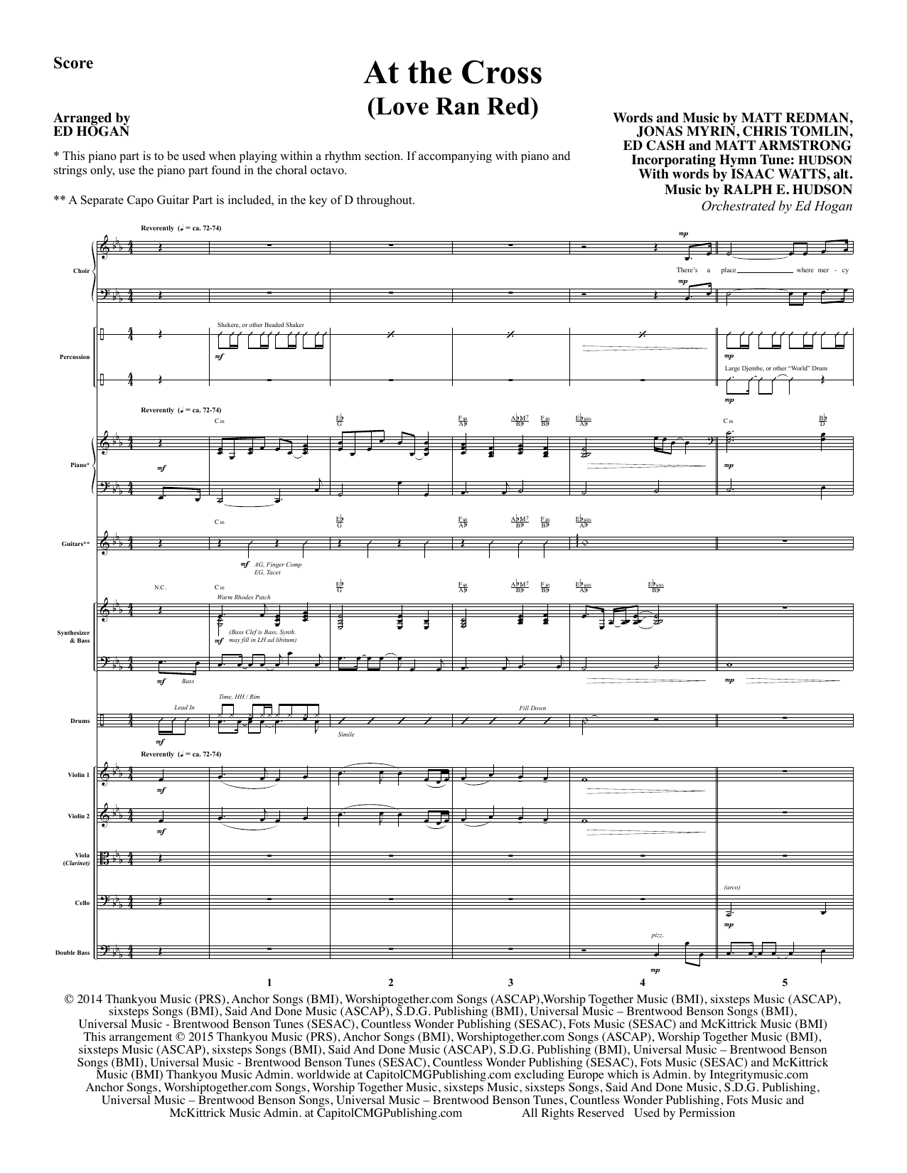 Ed Hogan At the Cross - Full Score sheet music notes and chords. Download Printable PDF.