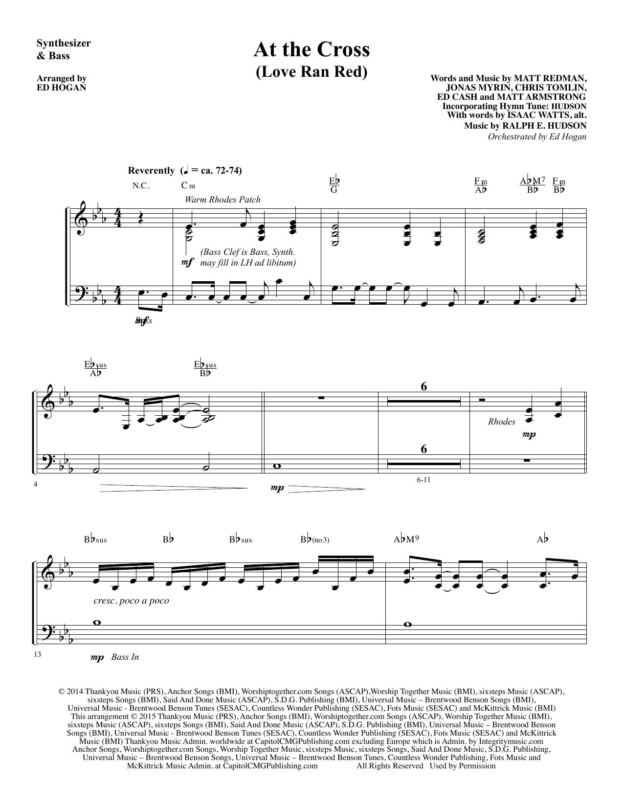 Ed Hogan At the Cross - Synthesizer & Bass sheet music notes and chords. Download Printable PDF.