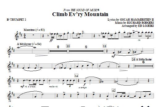 Ed Lojeski Climb Ev'ry Mountain - Trumpet 2 sheet music notes and chords. Download Printable PDF.