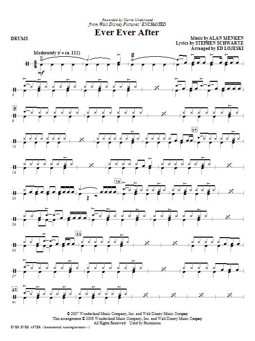 Ed Lojeski Ever Ever After - Drums sheet music notes and chords. Download Printable PDF.