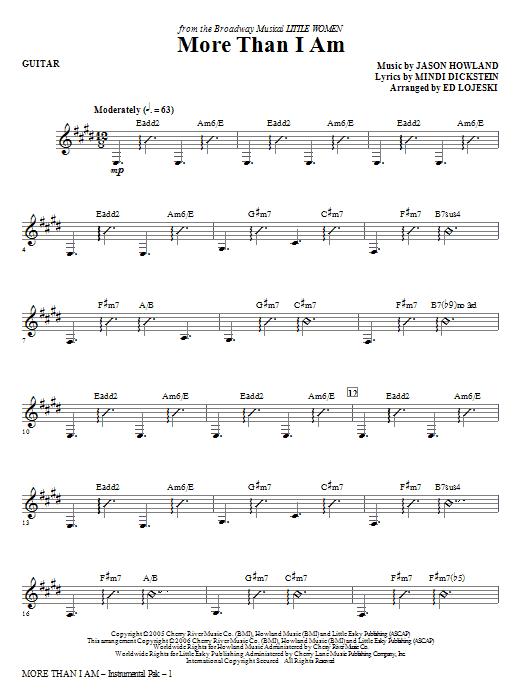 Ed Lojeski More Than I Am - Guitar sheet music notes and chords. Download Printable PDF.