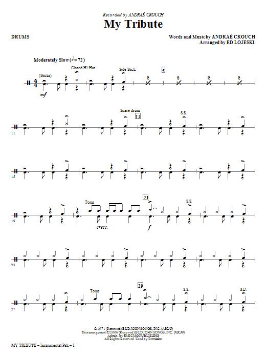 Ed Lojeski My Tribute - Drums sheet music notes and chords. Download Printable PDF.