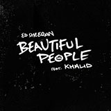 Download or print Ed Sheeran Beautiful People (feat. Khalid) Sheet Music Printable PDF 6-page score for Pop / arranged Big Note Piano SKU: 443774.