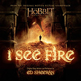 Download or print Ed Sheeran I See Fire (from The Hobbit) Sheet Music Printable PDF 2-page score for Pop / arranged Easy Piano SKU: 119256.