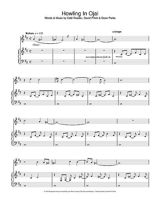 Eddi Reader Howling In Ojai sheet music notes and chords