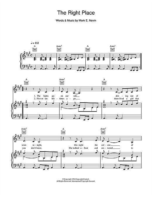 Eddi Reader The Right Place sheet music notes and chords