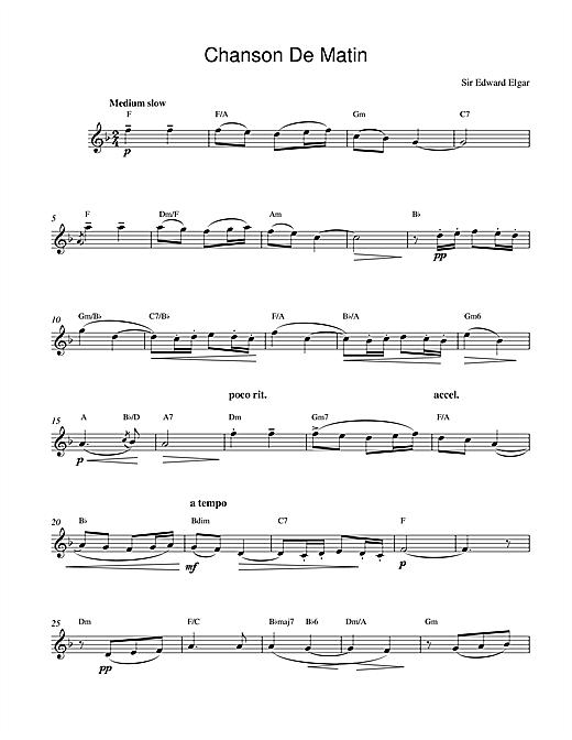 Edward Elgar Chanson De Matin Opus 15, No. 2 sheet music notes and chords. Download Printable PDF.