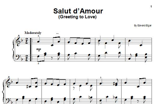 Edward Elgar Salut D'Amour sheet music notes and chords. Download Printable PDF.