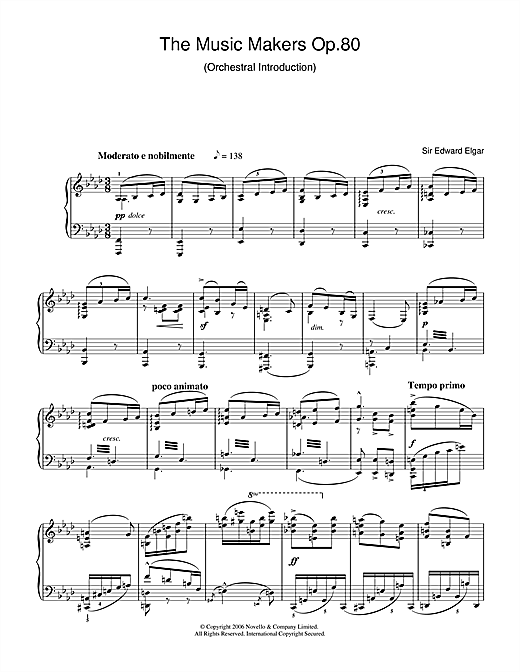 Edward Elgar The Music Makers Op. 80 sheet music notes and chords. Download Printable PDF.
