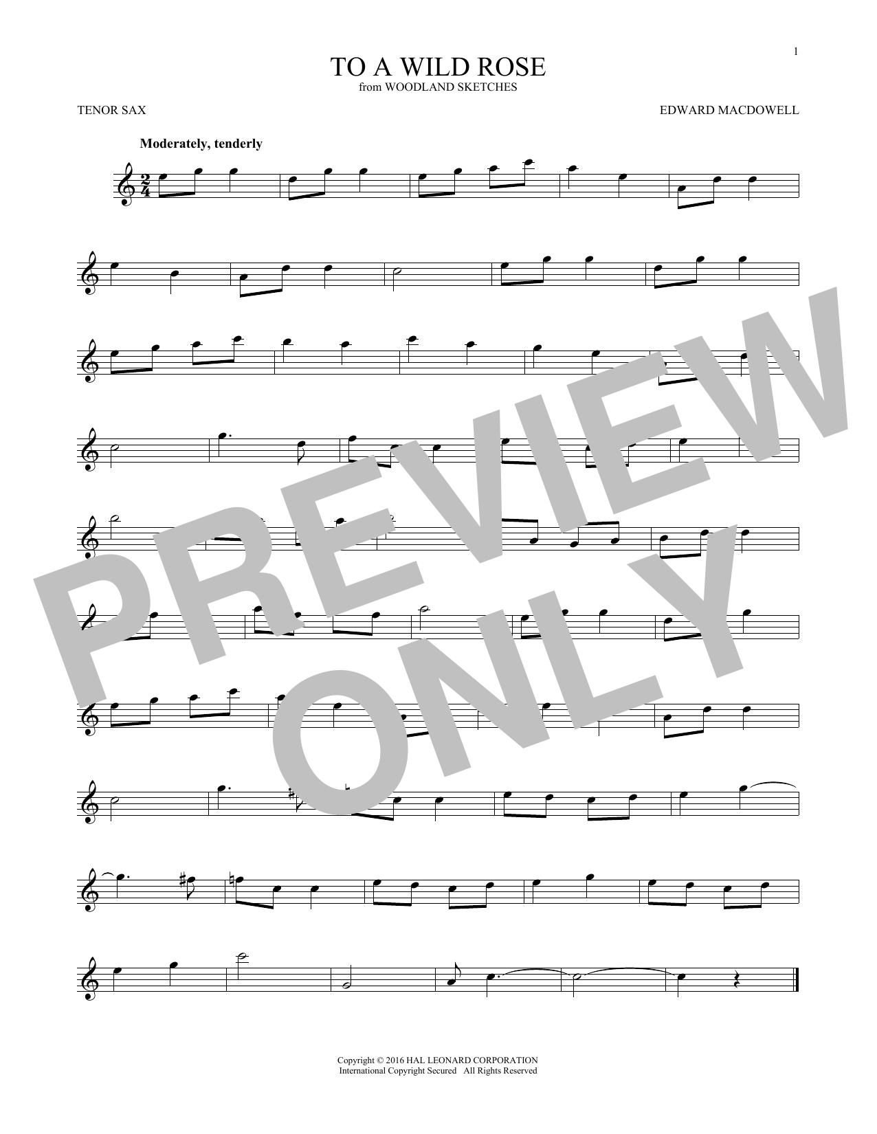 Edward MacDowell To A Wild Rose, Op. 51, No. 1 sheet music notes and chords. Download Printable PDF.