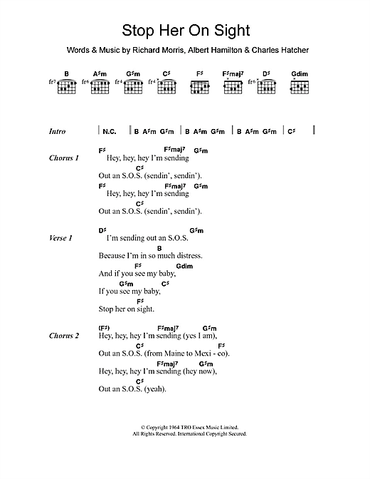 Edwin Starr Stop Her On Sight sheet music notes and chords. Download Printable PDF.