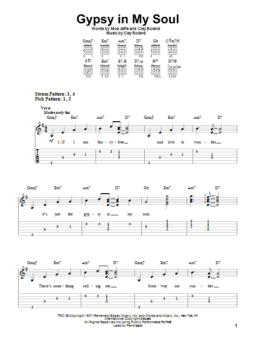 Ella Fitzgerald Gypsy In My Soul sheet music notes and chords. Download Printable PDF.