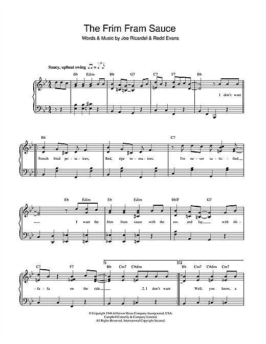 Ella Fitzgerald The Frim Fram Sauce sheet music notes and chords. Download Printable PDF.