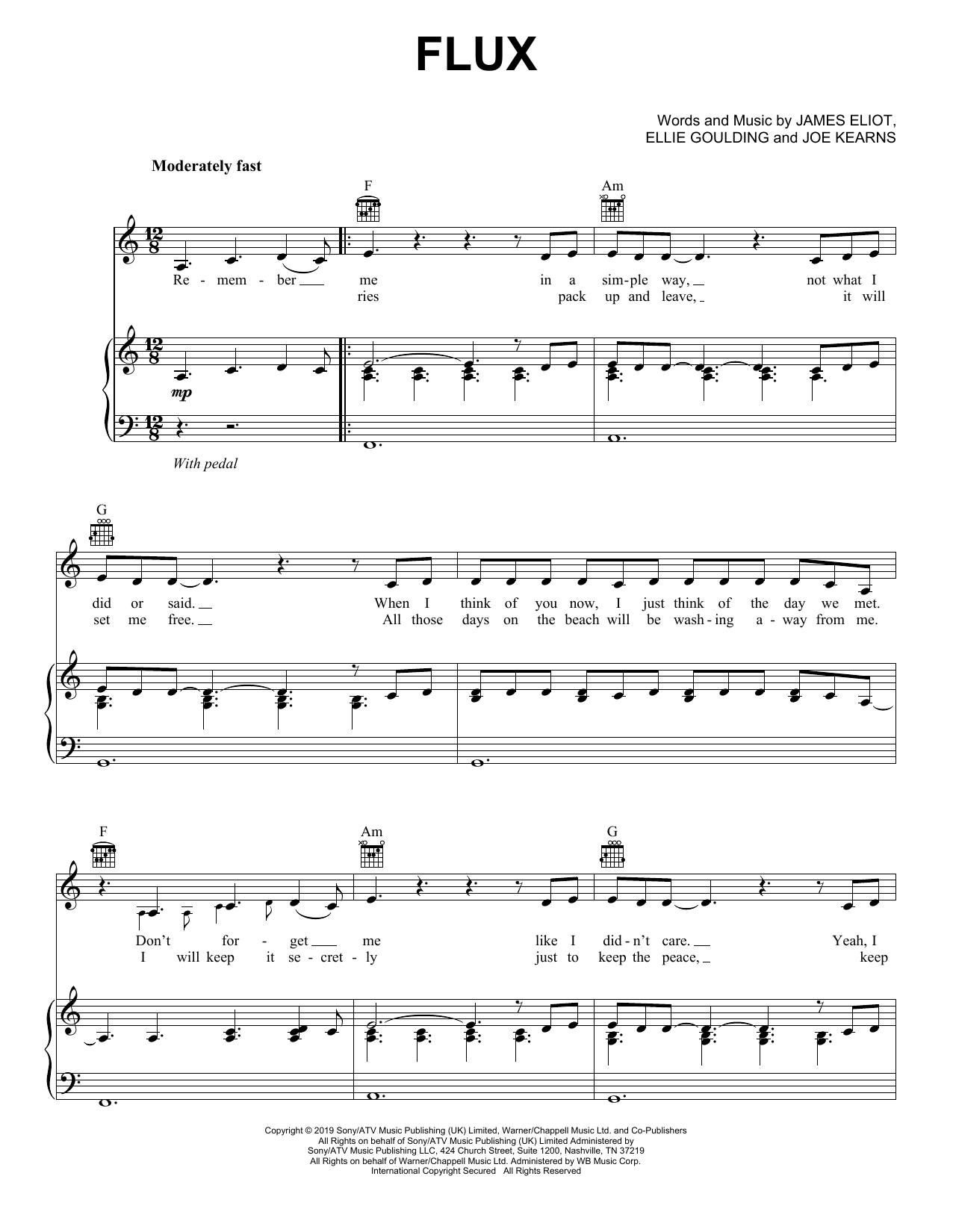 Ellie Goulding Flux sheet music notes and chords