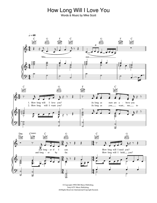 Ellie Goulding How Long Will I Love You sheet music notes and chords. Download Printable PDF.