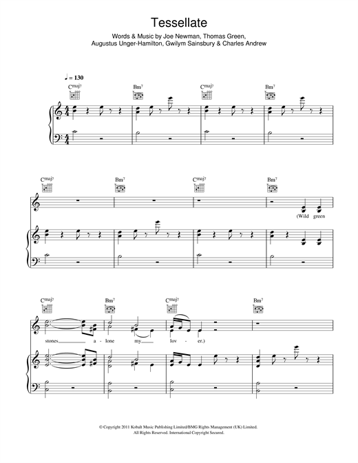 Ellie Goulding Tessellate sheet music notes and chords