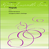 Download Elliot A. Del Borgo 'Hopak - 1st Bb Clarinet' Printable PDF 2-page score for Classical / arranged Woodwind Ensemble SKU: 339380.