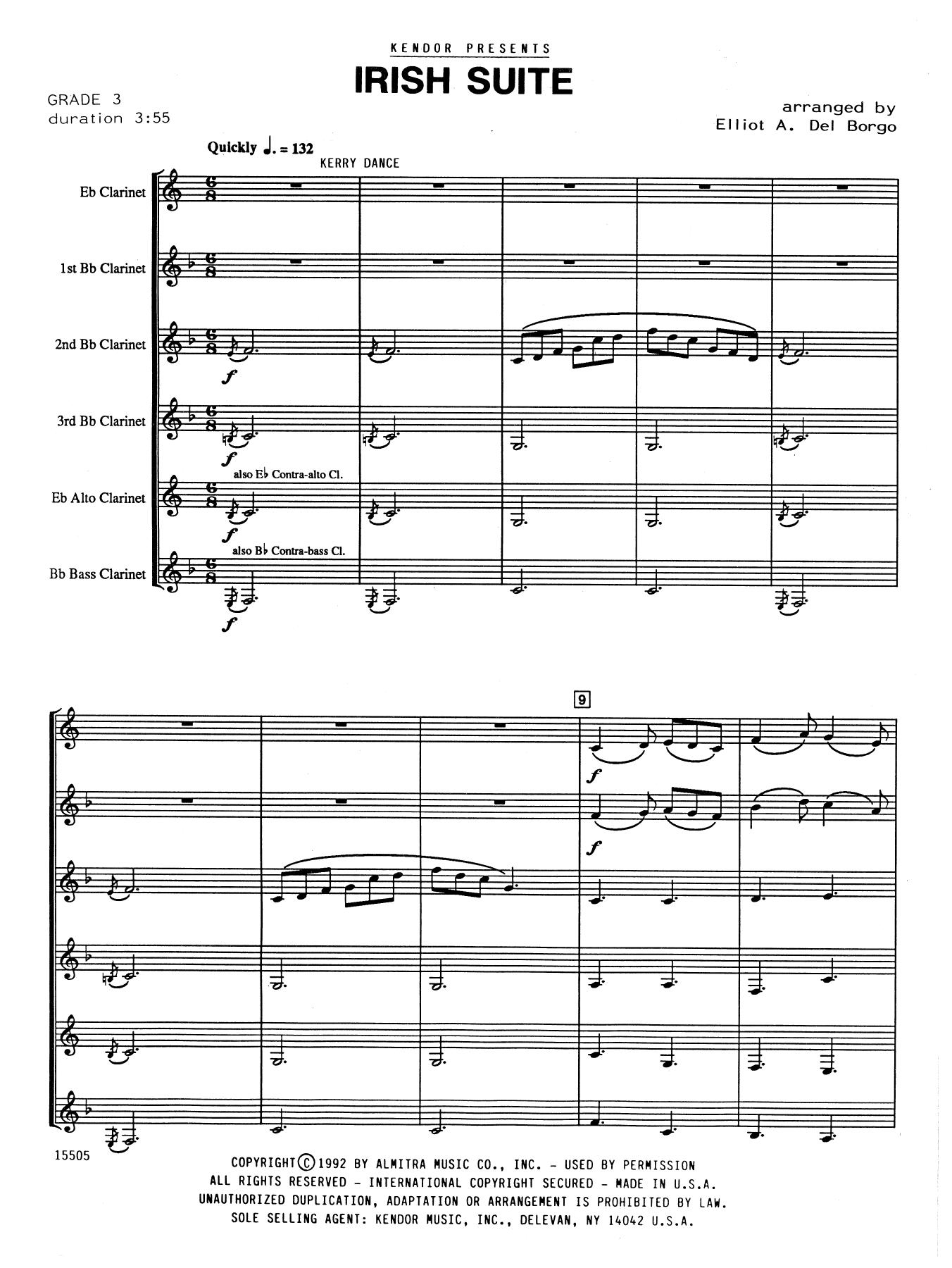 Elliot A. Del Borgo Irish Suite - Full Score sheet music notes and chords. Download Printable PDF.