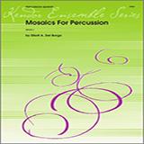 Download Elliot A. Del Borgo 'Mosaics For Percussion - Full Score' Printable PDF 10-page score for Concert / arranged Percussion Ensemble SKU: 343611.