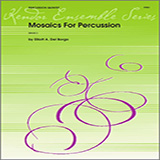 Download Elliot A. Del Borgo 'Mosaics For Percussion - Percussion 1' Printable PDF 3-page score for Concert / arranged Percussion Ensemble SKU: 343612.