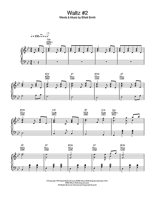 Elliott Smith Waltz 2 Xo Sheet Music Notes Chords
