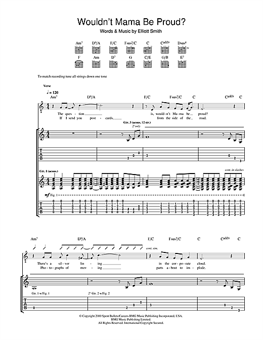 Elliott Smith Wouldn't Mama Be Proud? sheet music notes and chords. Download Printable PDF.